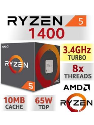 PROCESADOR AMD RYZEN 5 1400 AM4 - 5% para pago en efectivo