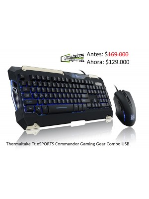 Combo teclado y mouse gamer Thermaltake Tt eSPORTS Commander Gaming Gear