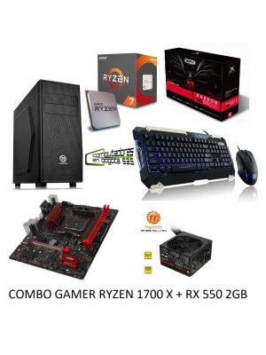 PC GAMER RYZEN 1700X + VIDEO RX550 8% OFF PAGO EN EFECTIVO