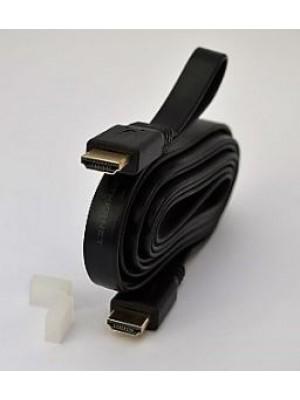 CABLE HDMI PLANO 1.4V 3D 4K 1.8 MTR M-M NEGRO